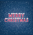 snow on the letters merry christmas vector image