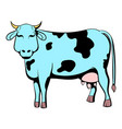 spotted cow icon cartoon vector image vector image