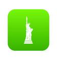 statue of liberty icon digital green vector image vector image
