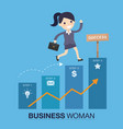 successful woman vector image vector image
