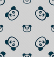 Teddy Bear icon sign Seamless pattern with vector image vector image