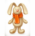 toy rabbit 3d icon vector image vector image