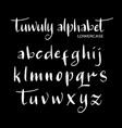 tuwuly alphabet typography vector image vector image