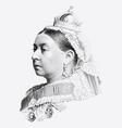 vintage engraving queen victoria vector image vector image