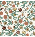 vintage flower seamless pattern vector image