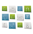 washing machine and laundry icons vector image vector image