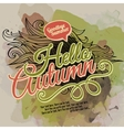watercolor paint autumn design vector image