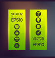 web green vertical banners vector image vector image