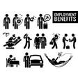 worker employment job benefits stick figure vector image
