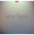 World Cities labels - New York vector image