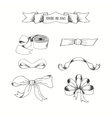 Hand drawn ribbons set banners collestion vector image