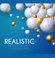 abstract background with rtalistic 3d structure vector image vector image