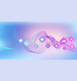 abstract health care banner template with flat vector image vector image