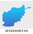 afghanistan map in asia continent design vector image vector image