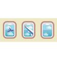 Aircraft Windows airplane windows vector image vector image