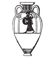 amphora are jars with narrow necks and two vector image vector image
