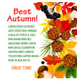 autumn poster template of fall forest nature vector image vector image