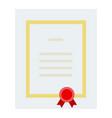 award diploma flat isolated vector image vector image