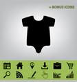baby cloth black icon at vector image vector image
