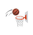 basket ball and basket vector image