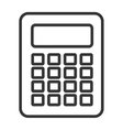 black and white calculator graphic vector image vector image