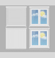 blind window curtains realistic mockup set vector image