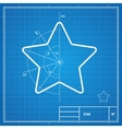 blueprint star card vector image vector image