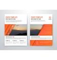 brochure design template flyer vector image