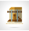 Bungalow flat color design icon vector image vector image
