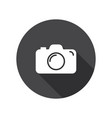 Camera icon flat camera sign isolated