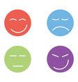 Cartoon emoticons vector image vector image