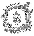 christmas and new year wreath vector image vector image