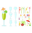 cocktail drink decoration vector image vector image