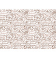 coffee seamless pattern with coffee words vector image