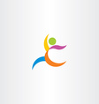colorful logo athletic man running icon vector image