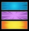 comic bright horizontal explosive banners vector image