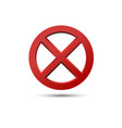 cross signs circle shape no button vector image