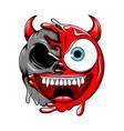 devil death skull change to be bad evil red vector image vector image