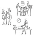 doctor and pregnant woman vector image vector image