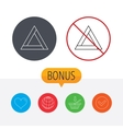Emergency sign icon Caution triangle sign vector image vector image