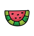 fresh watermelon isolated icon design vector image vector image
