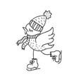 funny bird nursery art minimalist scandinavian vector image vector image