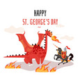 georges day cartoon tradition happy saint george vector image