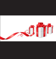 gift cards ribbon V vector image