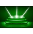 Green podium Pedestal Scene 3D vector image