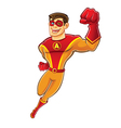 Handsome Superhero Flying vector image vector image