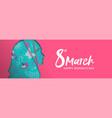 happy womens day banner arab muslim woman head vector image