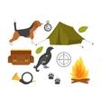 Hunting symbols set vector image vector image