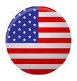 Icon label glossy usa round vector image