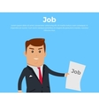 Job Concept Banner Vecror Flat vector image